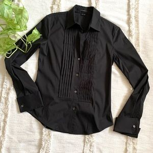 Theory Button Up Long Sleeve Career Blouse
